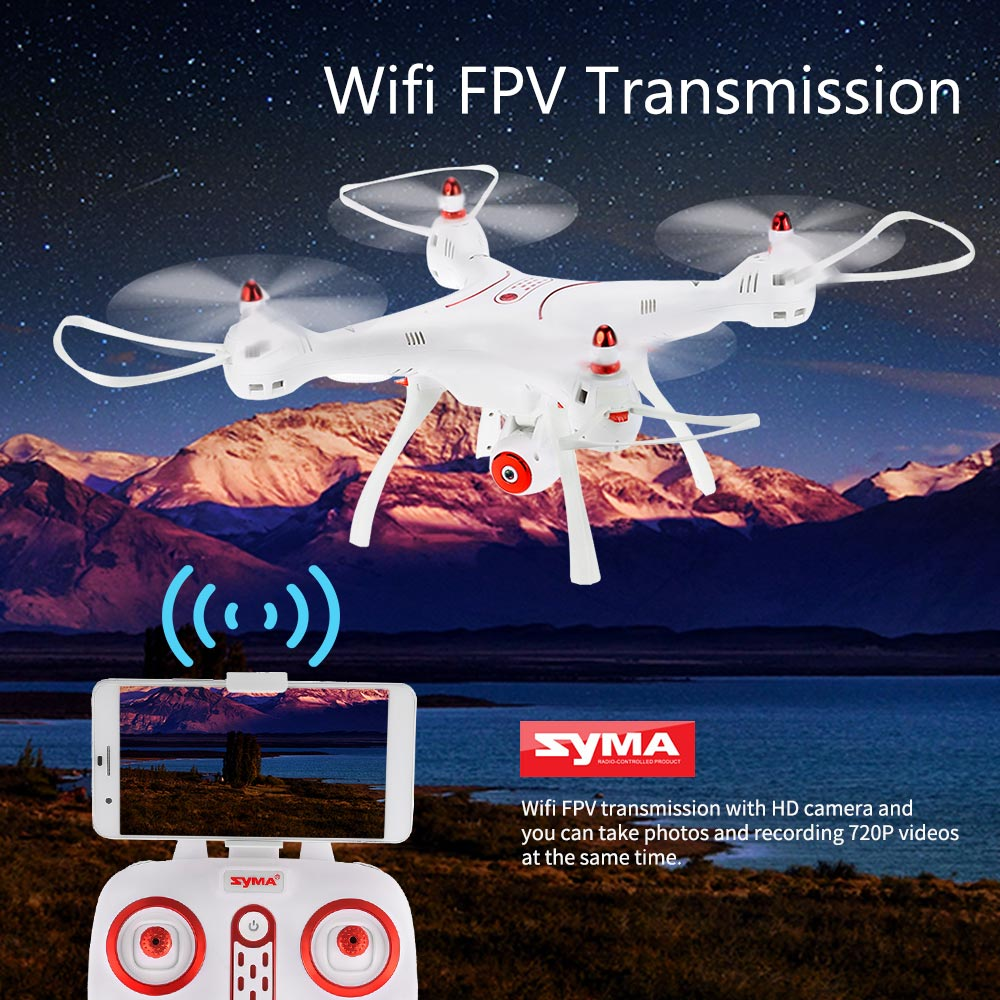 Syma X8SW Wifi FPV 720P HD Camera Drone 2 4G 4CH 6 Axis RC Quadcopter with