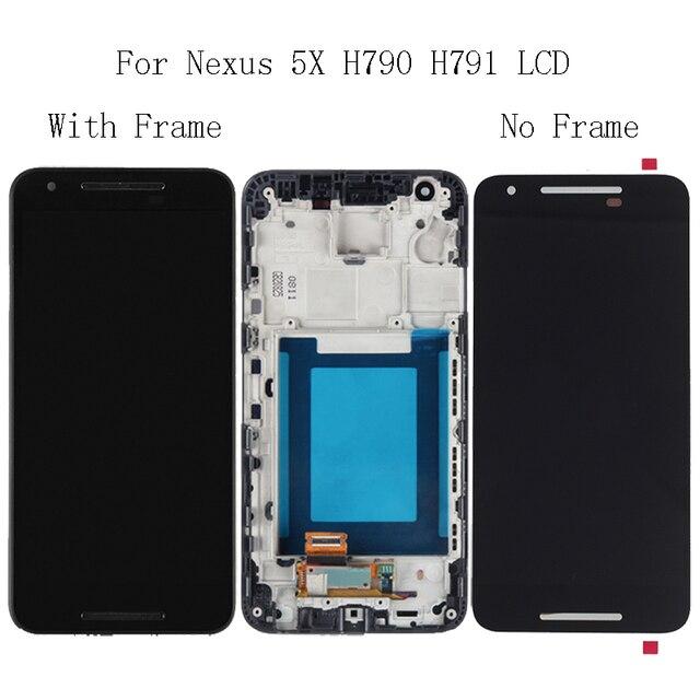 """5.2 """"Cho LG Nexus 5X H791 H790 Màn Hình LCD Hiển Thị Kính Màn Hình Cảm Ứng với Khung Bộ Dụng Cụ Sửa Chữa Thay Thế Bộ số hóa + miễn phí Vận Chuyển Dụng Cụ"""