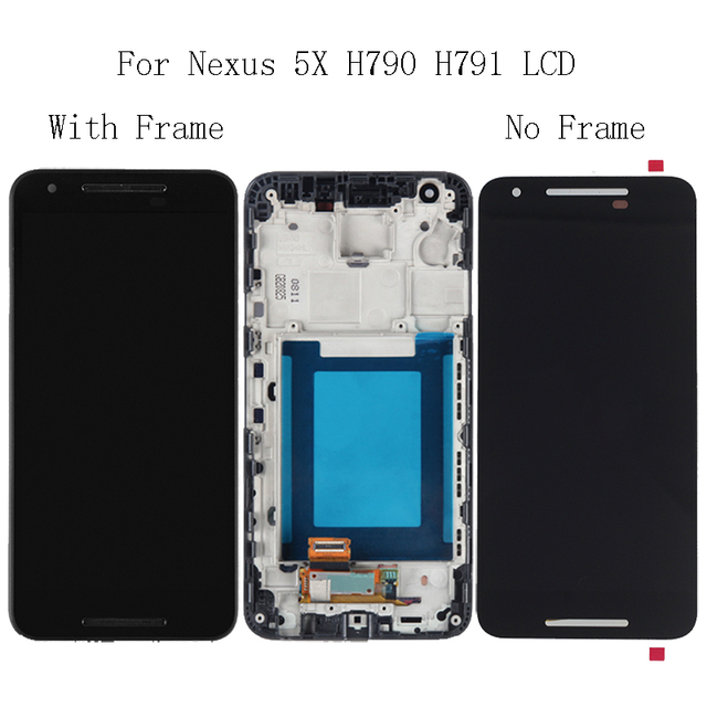 """5.2""""For LG nexus 5X H791 H790 LCD Display Glass Touch Screen with Frame Repair Kit Replacement digitizer+Free Shipping Tools"""