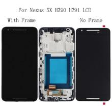 """5.2 """"עבור LG nexus 5X H791 H790 LCD תצוגת זכוכית מסך מגע עם מסגרת תיקון ערכת החלפת digitizer + משלוח חינם כלים"""