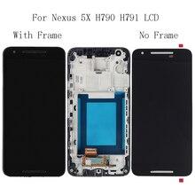 """5,2 """"para LG nexus 5X H791 H790 LCD pantalla táctil de cristal con Kit de reparación de Marco digitalizador de repuesto + envío Gratis herramientas"""