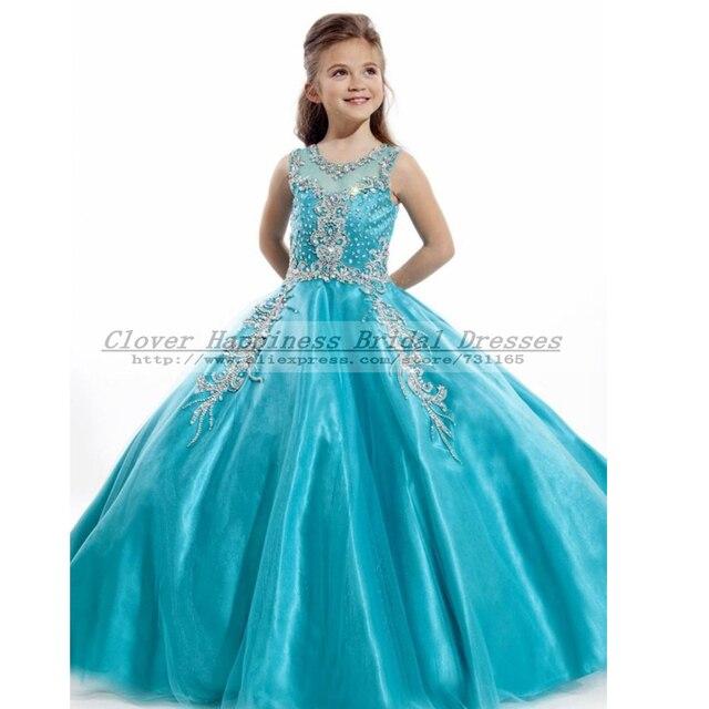 Azul Vestidos Vestido Niñas Casamento Infantil Coral De Daminhas OPkXZiTu