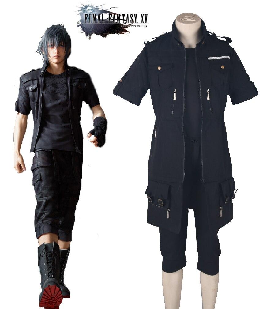 Free Shipping Final Fantasy XV Brotherhood Noctis Lucis Caelum Fighting Uniform Anime Cosplay Costume