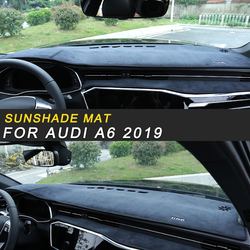 Dla Audi A6 2019 samochodów stylizacji pokrywa deski rozdzielczej osłona przeciwsłoneczna Mat Pad poszewka wyposażenie wnętrz w Naklejki samochodowe od Samochody i motocykle na