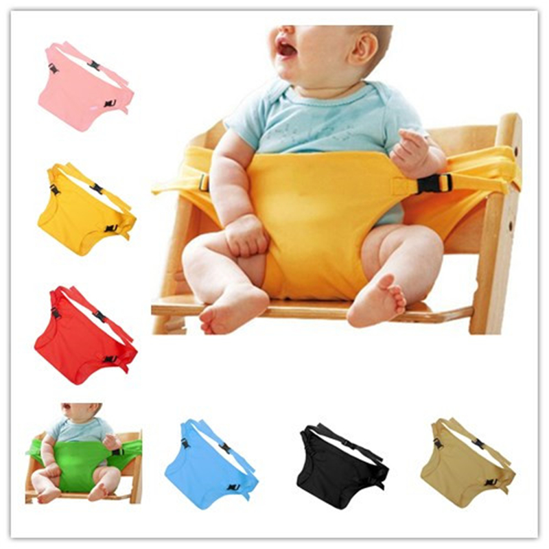 Infant Chair Portable Seat Dining Lunch Chair Seat Safety Belt Stretch Wrap Feeding Chair Harness Baby Booster Seat Baby Chair