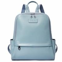 BOSTANTEN Backpack Female Genuine Leather Women Backpacks Purse Fashion Blue Black School Bags for Women Backpacks