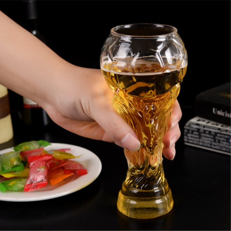 300ml Football shape Glass Beer Steins Crystal Glass Whiskey Drink ware Bar beer cup Free shipping