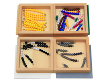 New Wooden Baby Toy Montessori  Mathematics Teaching Aids 4 Box Color  Beaded Snake Game Early Educational Toy Baby Gifts