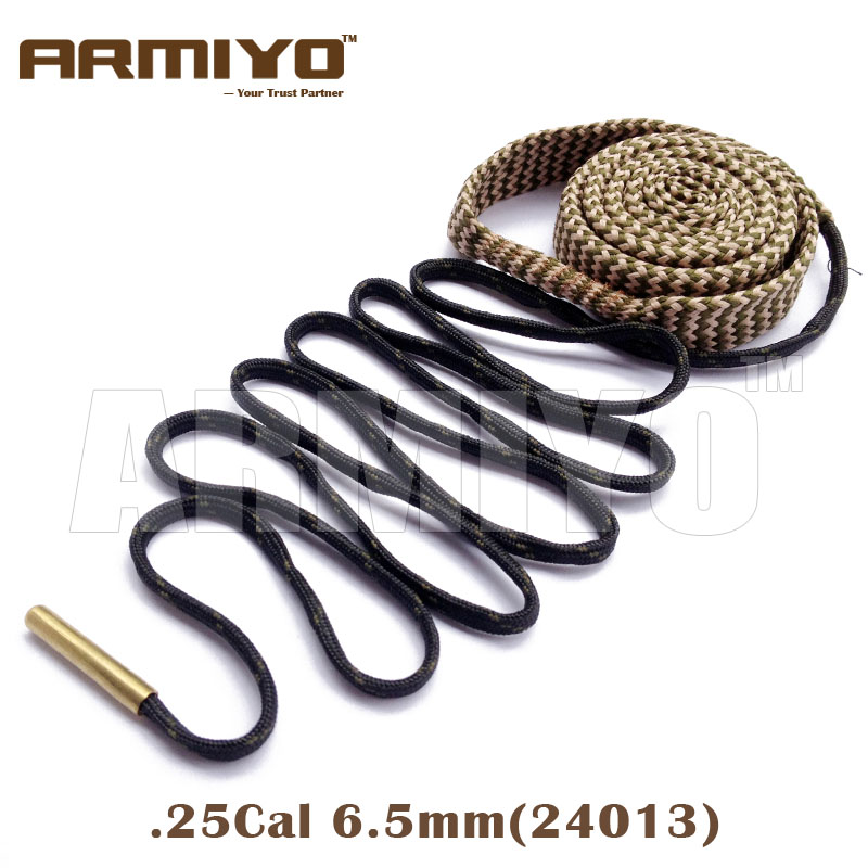 Armiyo Bore Snake Barrel Cleaner 6.5mm .25 .264 Cal 24013 Hunting Shooting Rifle Bore Cleaning Sling