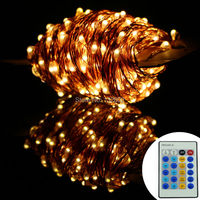 99Ft 30m 300 Leds Copper Wire Warm White LED String Lights Starry Lights Christmas Fairy Lights