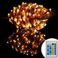 10m/20m/30m/50m Copper Wire Warm White Newest Remote Control LED String Lights Starry Lights Christmas Fairy lights+AC Adapter