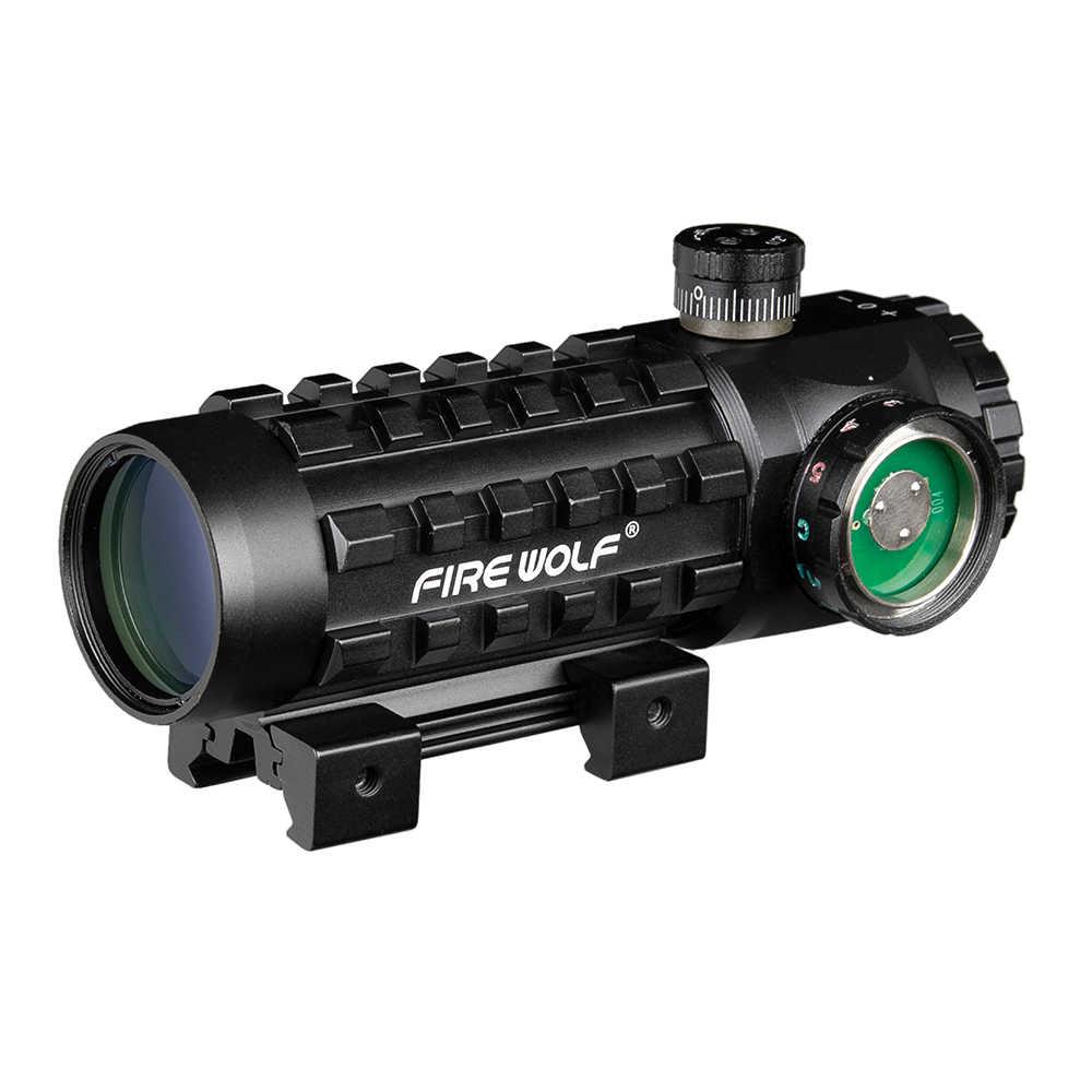 3X28 Groen Rood Dot Kruis Sight Scope Tactical Optics Riflescope Fit 11/20mm Rail Richtkijkers voor Jacht