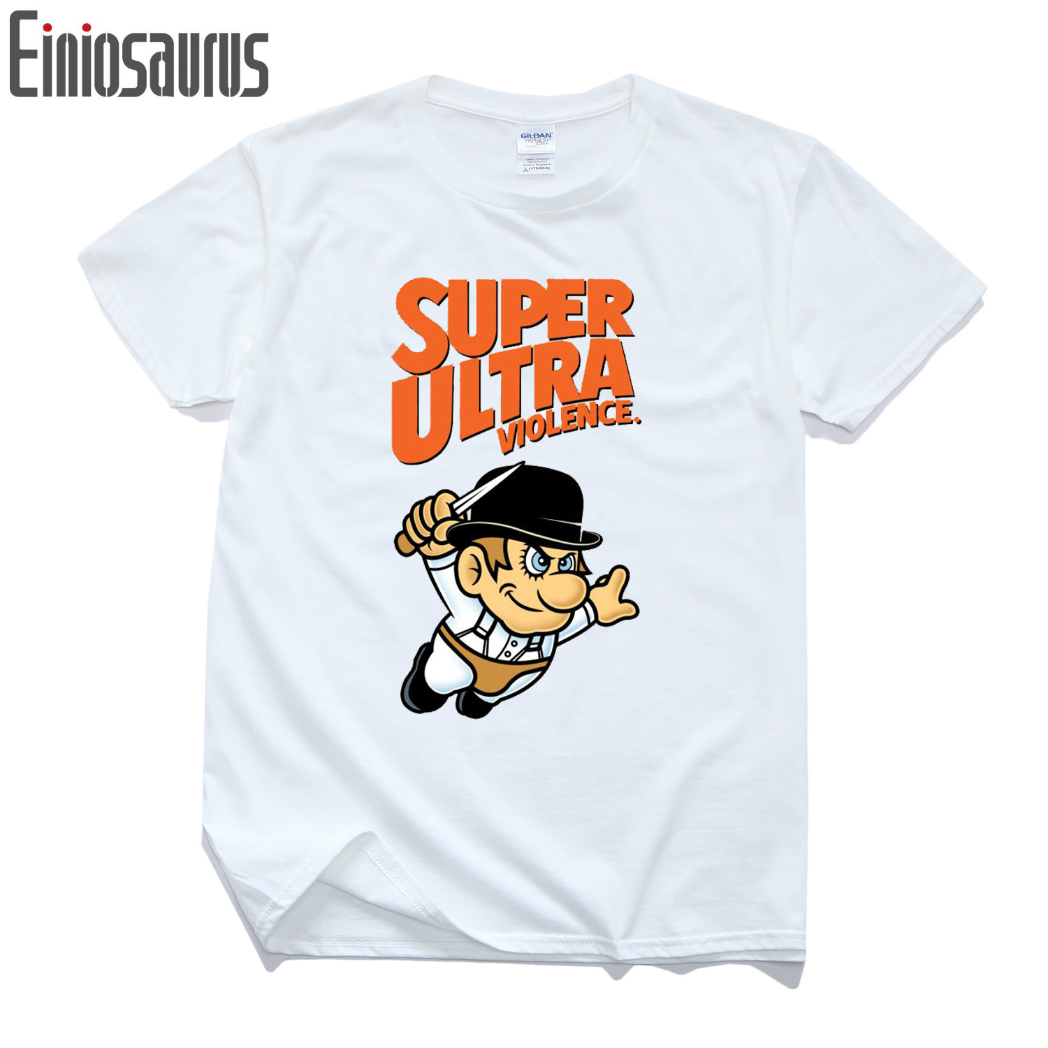 Cartoon Character Men T-shirts A Clockwork Orange Shirts For Man Male Stanley Kubrick Movie Clockwork Orange Slim Men Tops Tees
