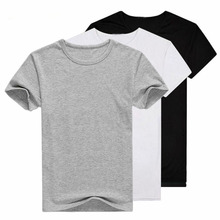 3 Pieces/Lot T Shirt 2 Men 2019 Fashion Tshirt O-neck Casual T-shirt Short Sleeve Solid T-shirts