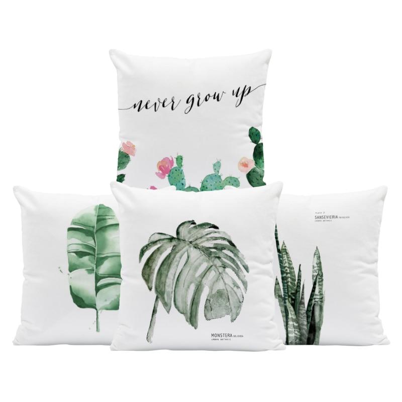 Retro Cactus Plant Flower Pot Cushion Covers 45cm Throw Pillow Gift Vintage UK