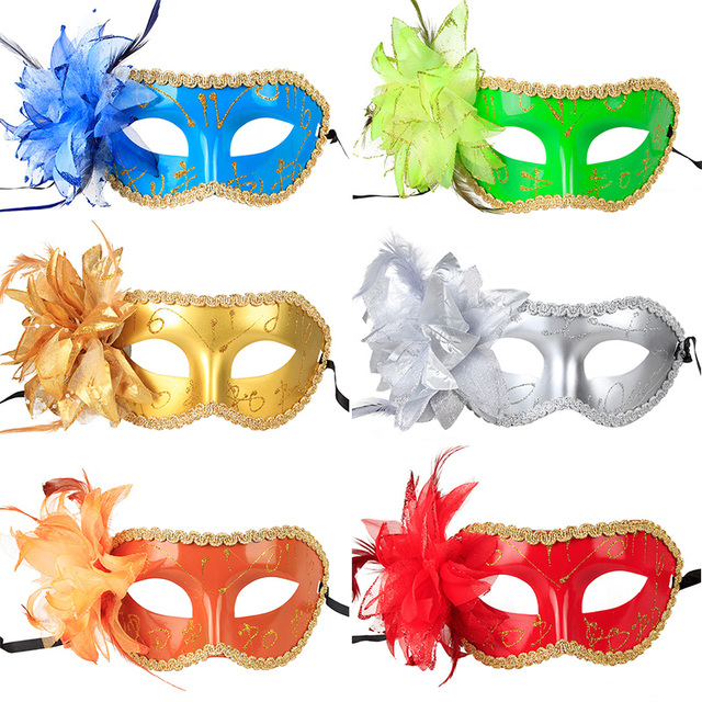 40pcs Venice Flat Mask Masquerade Halloween Christmas Party Fascinating Half Masks To Decorate