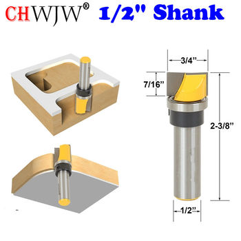 цена на 1pc Mortise/Template Trim Router Bit - Bottom Cleaning - 1/2 Shank Woodworking cutter Tenon Cutter for Woodworking Tools