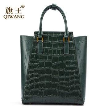 fd633af69c15 Product Offer. Qiwang большой зеленый сумка пояса из натуральной кожи для  женщин Крокодил сумки ...