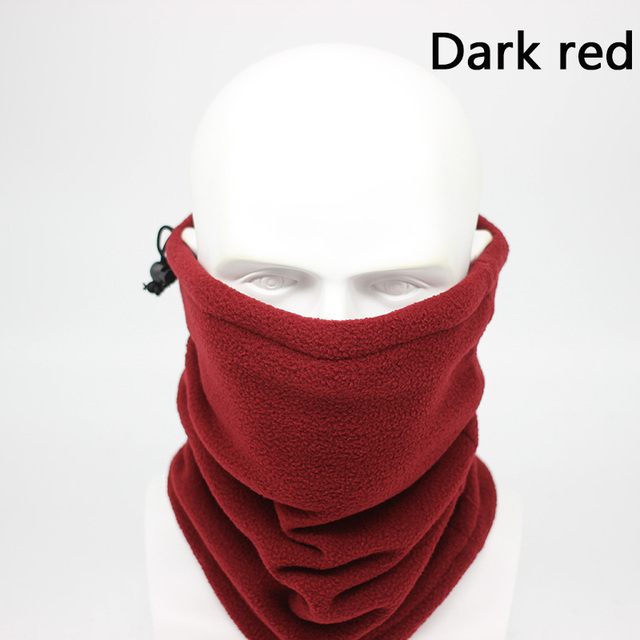 Fashion Men Winter Solid Bandana Headband Scarf Warm Multifunctional Seamless Tubular Head Scarf Face Mask Ring Scarf Unisex 3