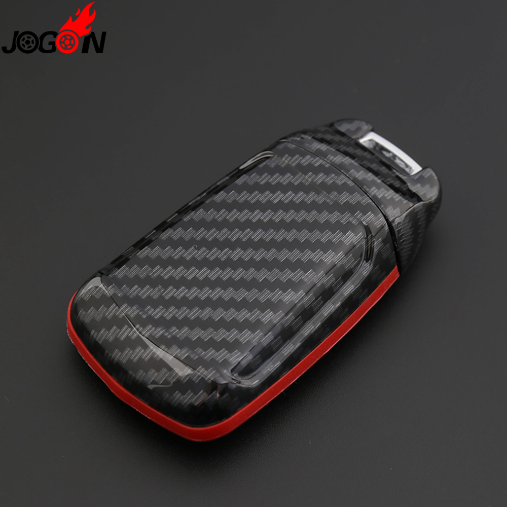Smart Remote Fob Key Case Shell Cover Carbon Fiber Look For Audi A4 B9 A5 S4 S5 8W Q7 4M Q5 TT TTS RS Coupe Roadster 2017 2018 цена 2017