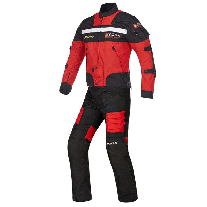 Moto Coupe-Vent Chaud D'hiver veste tissu oxford Vestes Costumes Motocross Moto Racing Portection tenue de protection