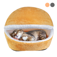 Warm Winter Cat House Cotton Kitten Cave Bed Warm Pet Puppy Sofa Mats Cushion Coussin Chat Cama Gato Pet Nest Kennel Cat Product