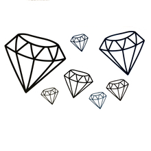 Black Diamond Waterproof Temporary Tattoos Sticke Harajuku tattoo body art car styling tatoo sticker tatuajes temporales