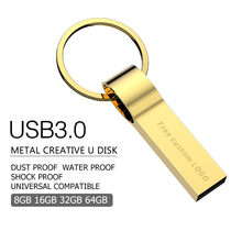 2019 usb flash 64GB 3.0  pendrive metal 4GB 8GB 16GB 32GB drive 128gb memory stick silver mini free shipping