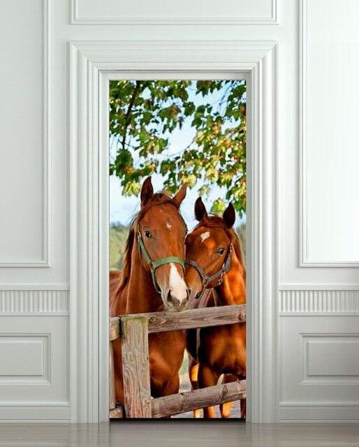 Paarden Sticker Muur.Diy 3d Muursticker Mural Home Decor Paarden Kraam Schuur