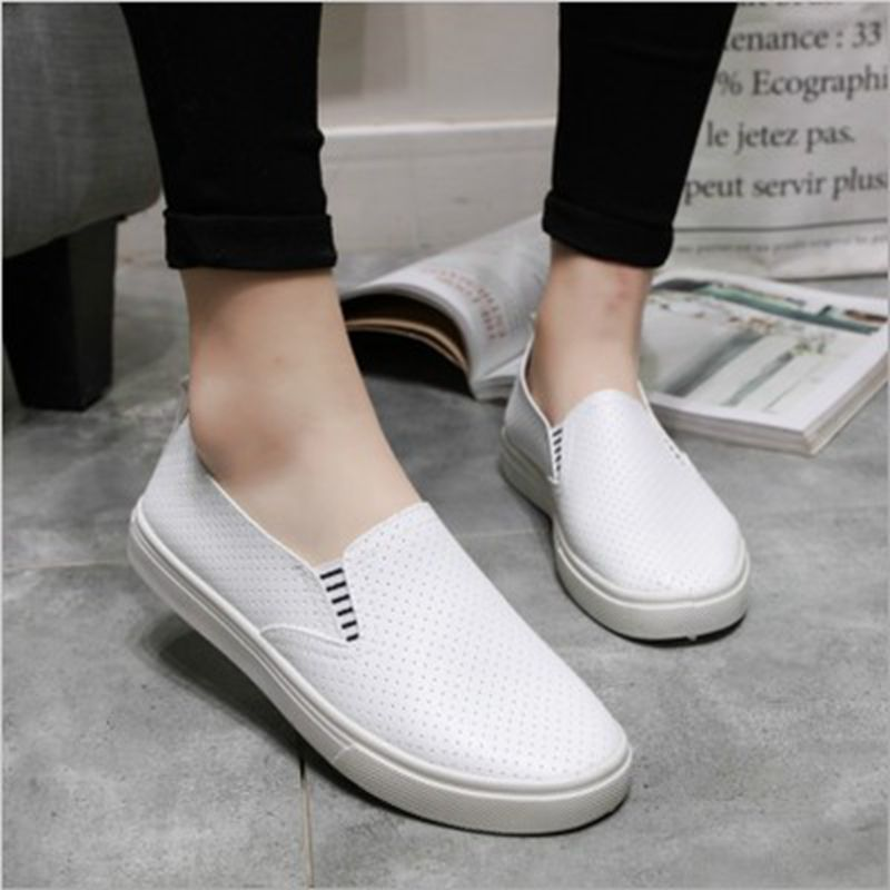 HEFLASHOR Women Vulcanized Shoes Breathable Slip On Shallow Sneakers Loafers Soft Hollow Out Female Flats Shoes zapatos de mujerHEFLASHOR Women Vulcanized Shoes Breathable Slip On Shallow Sneakers Loafers Soft Hollow Out Female Flats Shoes zapatos de mujer