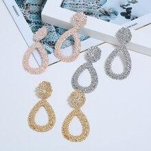 Bohopan Luxury Drop Earrings For Women Unique Elegant Ladies Water Drop Dangle Earrings Party Exquisite Earrings Fashion Jewelry недорого