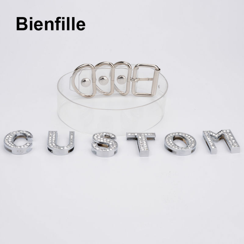 Image 4 - Charm Customized Choker Personalized Choose Unique Name Collar Necklace Crystal Silver Letters Transparent PVC Punk Goth Choker-in Choker Necklaces from Jewelry & Accessories