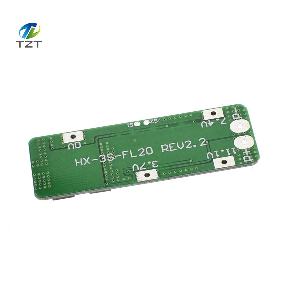 Tzt 1pcs 3s 20a Li Ion Lithium Battery 18650 Charger Pcb Bms 108v 111v Protection Circuit Board 126v Cell 59x20x34mm Module In Integrated Circuits From Electronic