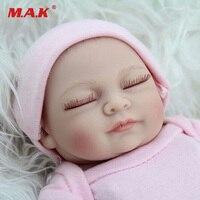 11 inç 28 cm Uyku Bebek Doğmuş Bebek Gerçek Görünümlü yenidoğan Tam Vücut Silikon Reborn Oyuncak Çocuk Büyüme Ortakları için çocuk