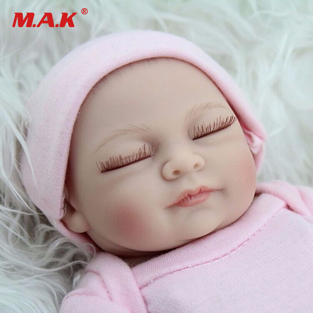 11 inches 28 cm Sleeping Baby Born Dolls Real Looking Newborn Full Body Silicone Reborn Toy Kids Growth Partners for Children