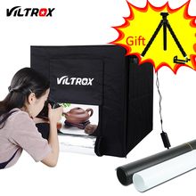 Viltrox 60*60cm LED Light Tent Soft Box Photo Studio Softbox +AC Adapter +Backgrounds for Phone Camera DSLR Jewelry Toys Shoes