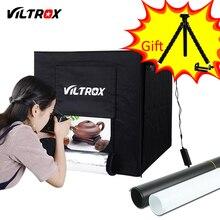 Viltrox 60*60cm led 라이트 텐트 소프트 박스 사진 스튜디오 소프트 박스 + ac 어댑터 + 배경 전화 카메라 dslr 쥬얼리 완구 신발