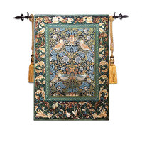 58*88cm William Morris Works Thrush Birds Wall Tapestry Wall Hanging Belgium Art Moroccan Decor Tapestry Fabric Tapestries tapiz
