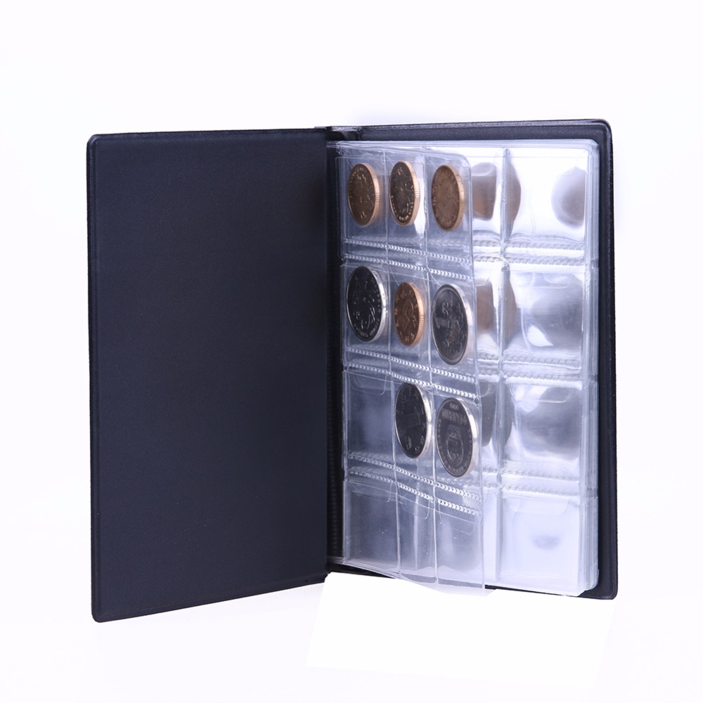 120 Coins Collection Storage Album Mini Penny Pockets Money Album Book Collecting Coin Holders for Collector Gifts Supplies  book
