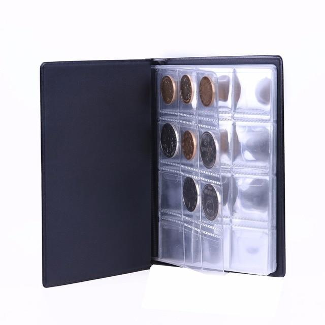 Pochettes de 120 pièces de monnaie | Mini livre de Collection dalbum, rangement de pièces de monnaie, pour Album, porte-monnaie de Collection, fournitures en cadeaux