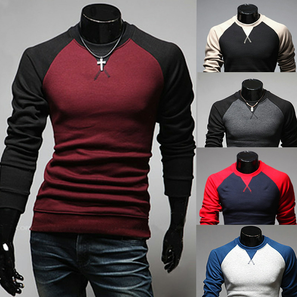 b467ab42cbfd Vicabo XXL Plus Size Mens Clothing Long Sleeve Baseball Shirt Casual Men  Tshirt Contrast Color Compression Undershirt-in T-Shirts from Men's  Clothing on ...