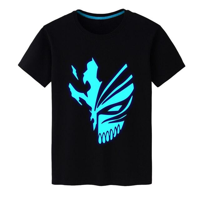 2019 New Arrival Mens T Shirt for Anime BLEACH Kurosaki Ichigo Hollowification Face O-Neck Printed T-shirts Short Sleeve TShirts