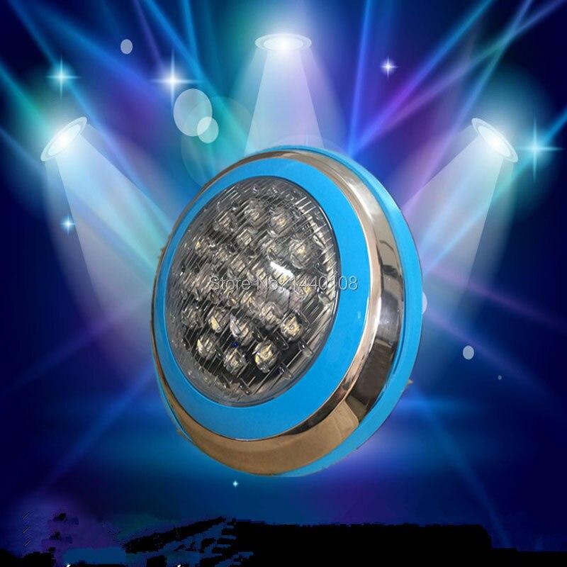 Outdoor Tiefe Unterwasser Lichter 24W RGB LED Pool Licht Wand Montiert IP68 Für Brunnen Teiche Unter Wasser Lampe AC12V - 2