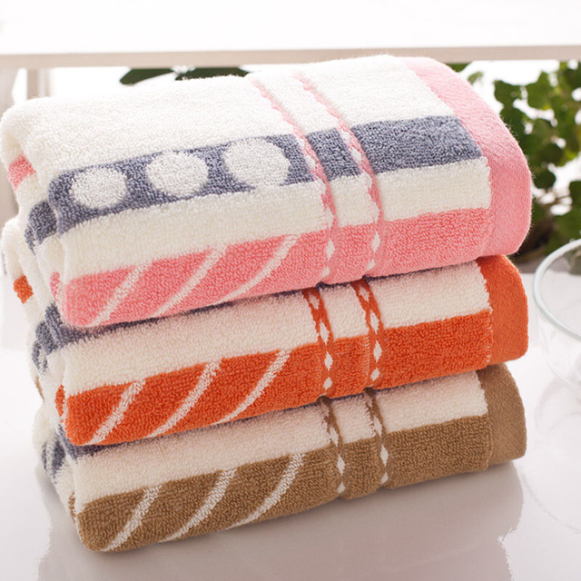 3PCS*LOT New Fashion 3 Colors Genuine Face Hand Towel High Quality 34cm*74cm 100% Pure Cotton Brand Bath Towel Set wholesale
