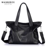 MANBERCE Men Shoulder Bags Brand Genuine Leather Handbag Cowhide Messenger Bag Men's Briefcases Travel Bags Tote Laptop Bag