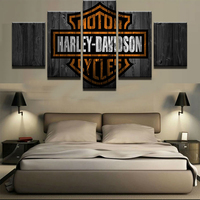 Creative 5 Panels Canvas Paintings Of Harley Painting Modern Abstract Photo Wall Picture Decoration