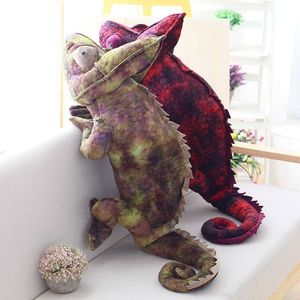Image 2 - Simulation reptiles Lizard chameleon Plush Toys High Quality Personality animal doll Pillow for kids Birthday Christmas Gifts