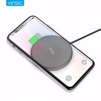 Vinsic qi 무선 충전기 무선 충전기 패드 무선 iphone x 8 8 plus 삼성 galaxy s6 s7 edge google nexus lumia 920|휴대폰 충전기|전화기 & 통신 -