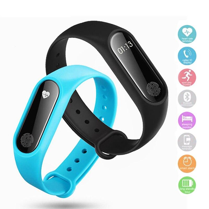 Banda inteligente LED Digital reloj hombre reloj mujeres Monitor de ritmo cardíaco pulsera Bluetooth dormir rastreador de Fitness podómetro pulsera