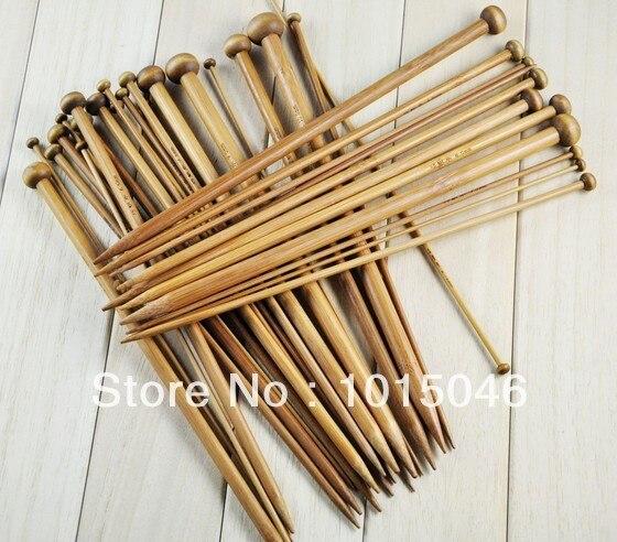 Бесплатная доставка 2X18 Размеры S бамбуковые одной точке 35.5 см Вязание Вышивка Крестом Иглы Размеры 2 мм до 10 мм
